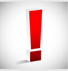 3d red exclamation mark eps 10 vector