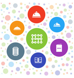 7 cover icons vector