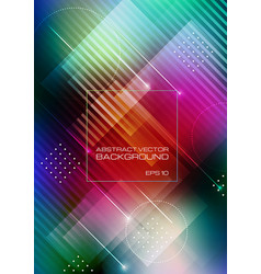 Abstract geometric shapes on colorful background vector