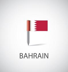 bahrain flag pin vector image
