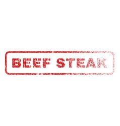 Beef steak rubber stamp vector