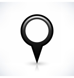 Black blank map pin sign round location icon vector image