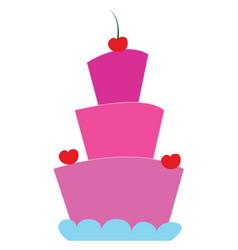 cake hand drawn design on white background vector image