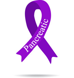 Cancer Ribbon Pancreas cancer International Day vector image