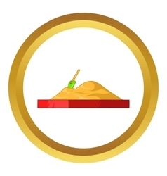 Children sandpit icon vector image