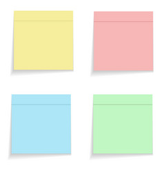 Color memo stikers on white stock vector
