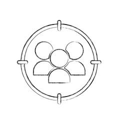 Community avatars isolated icon vector