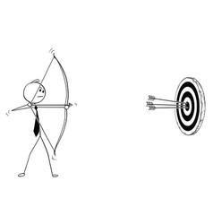 Conceptual cartoon businessman with bow vector