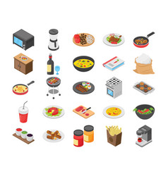 Cooking flat icons pack vector