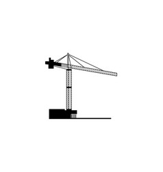 crane design template vector image