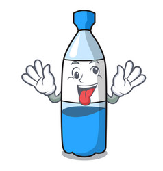 crazy water bottle mascot cartoon vector image