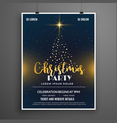 Creative christmas party event flyer poster vector