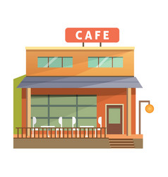 design of coffee shop and bar vector image