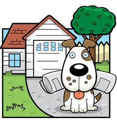 Dog paper vector