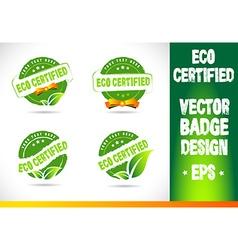 Eco certified badge vector