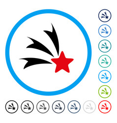 Falling star rounded icon vector