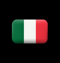 flag of italy matted icon and button vector image