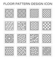 Floor pattern icon vector