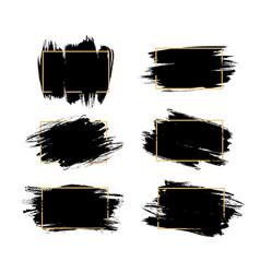 grunge frames isolated rectangular borders vector image