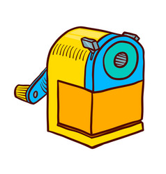 Hand drawn sharpener icon doodle of vector