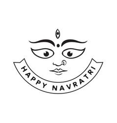 Happy navratri festival of india vector