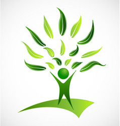Healthy organic human being icon vector