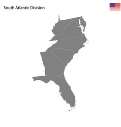 high quality map south atlantic division of vector image