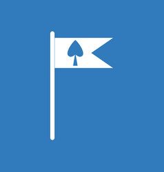 Icon cards symbol on flag vector