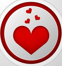 icon for blog Red heart vector image