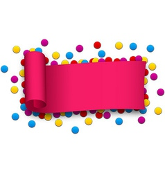 Magenta curled ribbon vector image