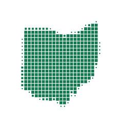 Map of ohio vector