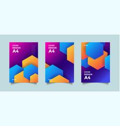 modern cover gradient background design vector image