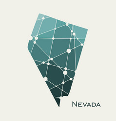 Nevada state map vector