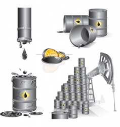 oil set vector image
