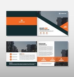 Orange black annual report Leaflet Brochure vector image