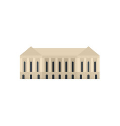 Parliament building icon flat style vector