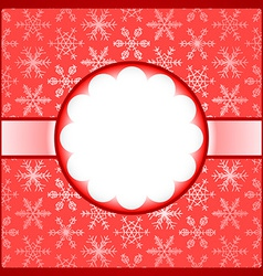 Red frame with snowflakes vector image