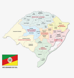Rio grande do sul colorful administrative vector