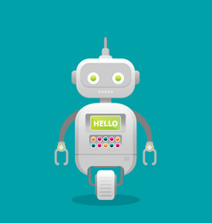 robot customer support service chat bot flat vector image