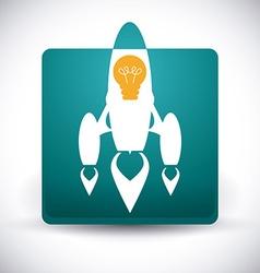 Rocket design vector image