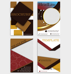 set of geometric shape diamond abstract templates vector image