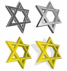 set of jewish stars vector image