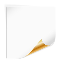 Sheet Paper with Curved Corner vector image