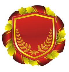 shield red vector image