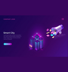Smart city wireless network technology concept vector