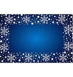 Snow border frost frame christmas texture vector
