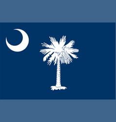 South carolina state flag vector