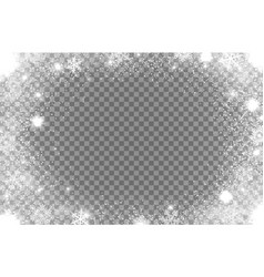 sparkling christmas snowflakes winter snow shine vector image