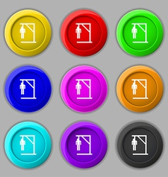 Suicide concept icon sign symbol on nine round vector
