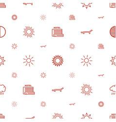 sunrise icons pattern seamless white background vector image